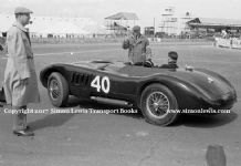 Jaguar C Type Stirling Moss Silverstone Daily Express Trophy Meeting 1952
